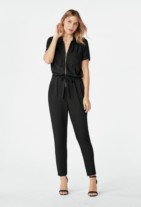 2b5223d04775 Relaxed Jumpsuit Clothing in Black - Get great deals at JustFab