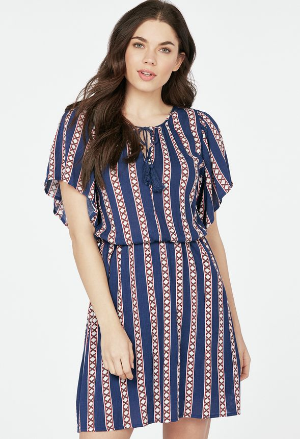 bd0cc30fa437 Ropa Gauze Print Dress en INDIGO MULTI PRINT - Envío gratuito en JustFab