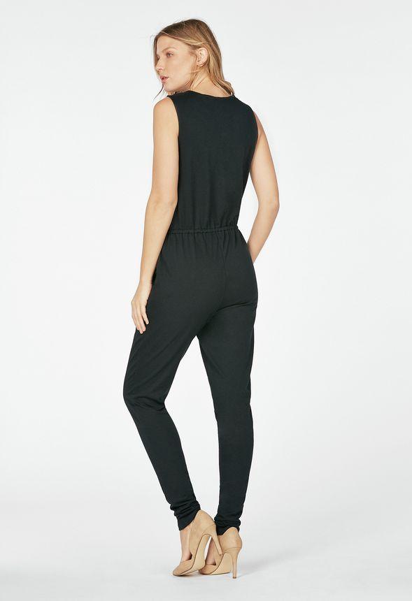 harem knit jumpsuit kleidung in schwarz g nstig kaufen. Black Bedroom Furniture Sets. Home Design Ideas