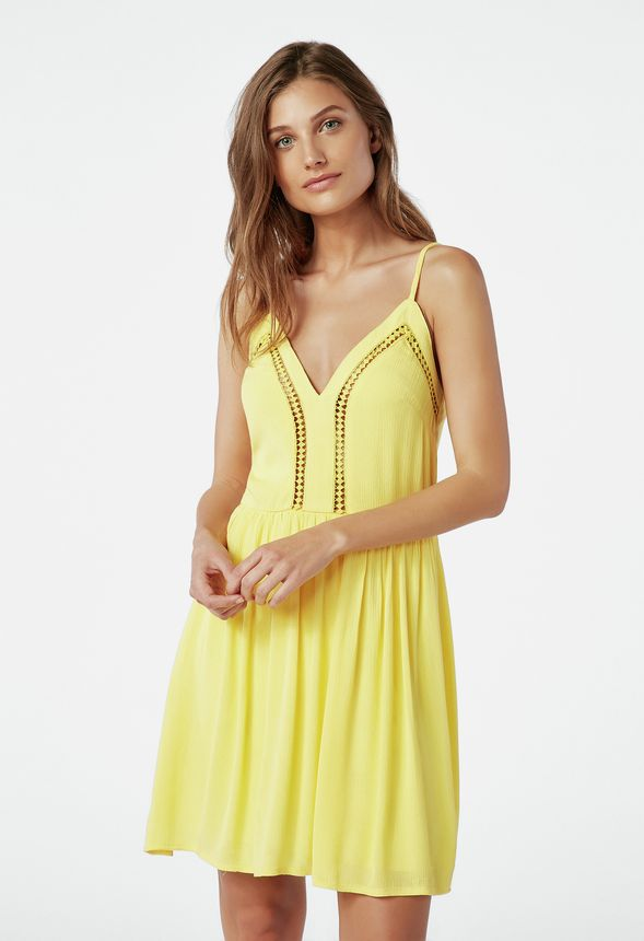 9d6efac164e Flirty Fit And Flare Dress Clothing in LEMON ZEST - Get great deals at  JustFab