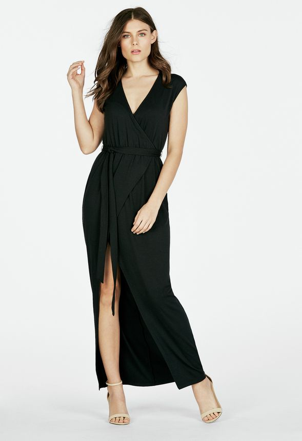 41efc6c1e9ed Maxi Dress With Back Strapping Clothing in Black - Get great deals at  JustFab