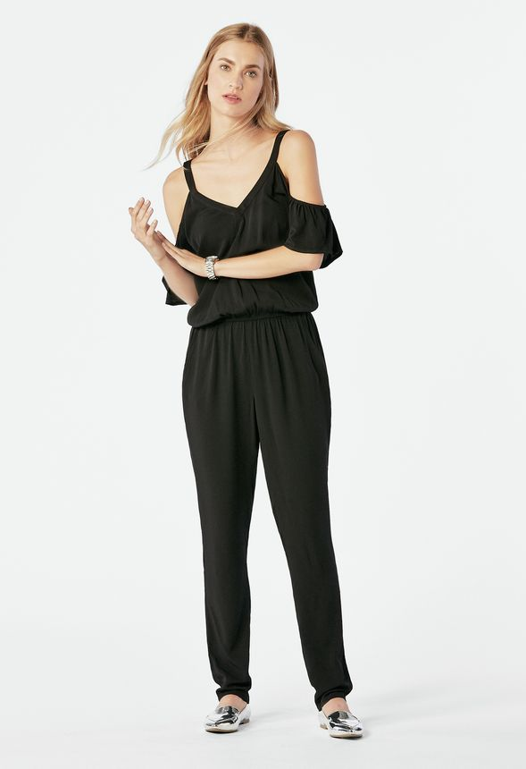8a35ac84d003 Ruffled Jumpsuit Clothing in Black - Get great deals at JustFab