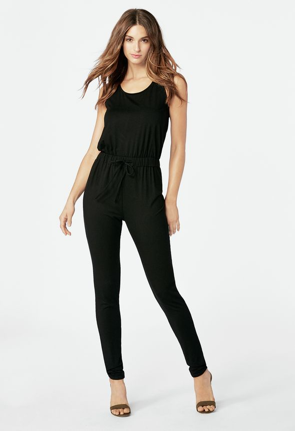a2081d001f7d Drawstring Tank Jumpsuit Clothing in Black - Get great deals at JustFab