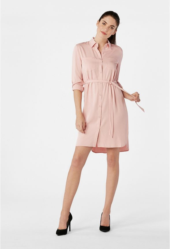 11ed44bbff7 Two Pocket Shirt Dress Clothing in MELLOW ROSE - Get great deals at JustFab