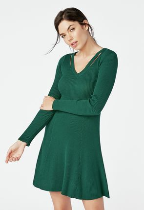 1977473c22b Cutout Fit   Flare Sweater Dress ...