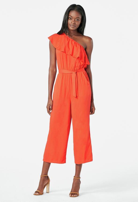 b4421fffab One Shoulder Jumpsuit Kleidung in Fiery Red - günstig online kaufen im  JustFab Shop Deutschland
