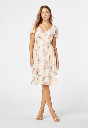 25b627cdbb Flutter Sleeve Midi Dress ...