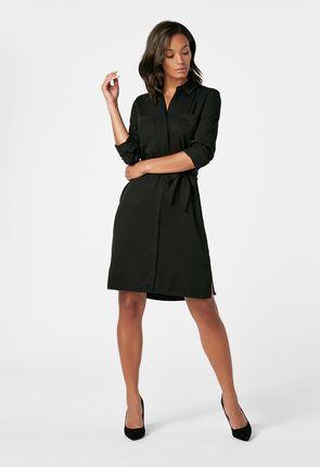 1f8d8397db7b3 Belted Shirt Dress ...