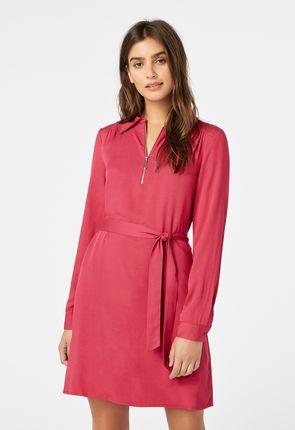 087ce10529b Zipper Shirt Dress ...