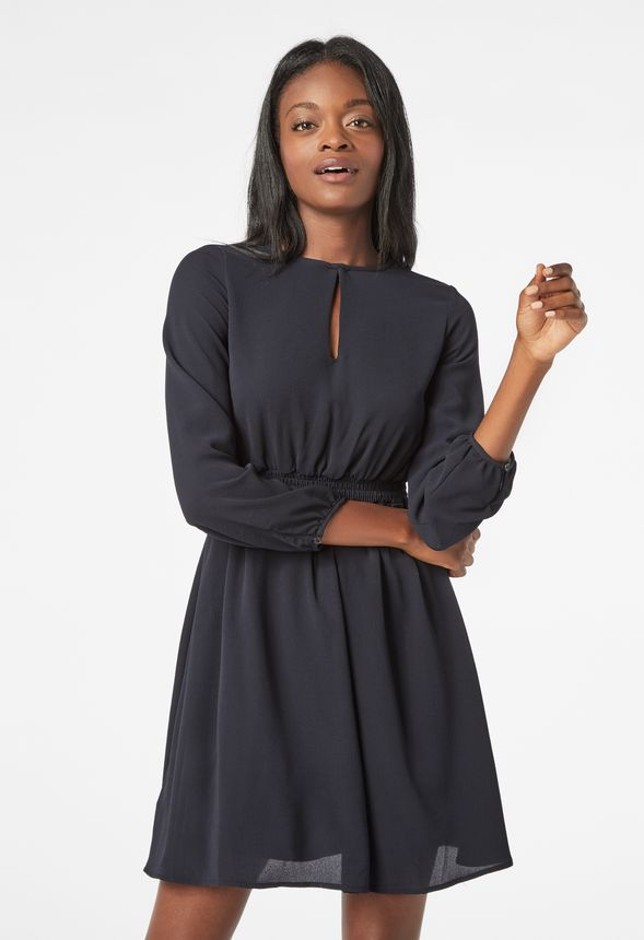 73dfaccb0c722 Smocked Sleeve Dress Clothing in Black - Get great deals at JustFab