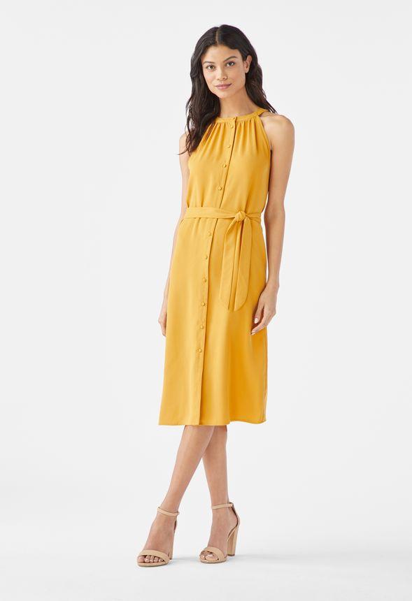 dac548ffa38d7 Neckholder-Kleid Kleidung in Nugget Gold - günstig online kaufen im ...