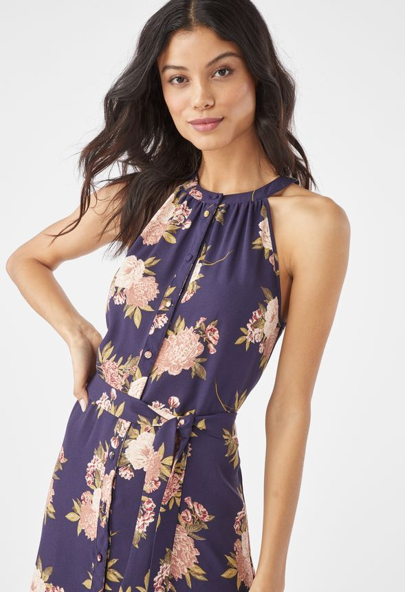 c599fe8c97833 Neckholder-Kleid Kleidung in DARK INDIGO MULTI - günstig online ...