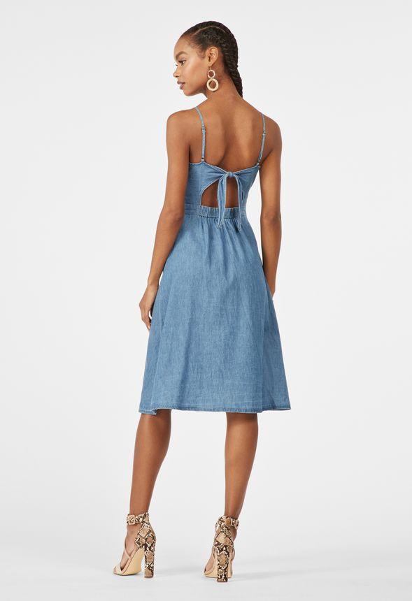 2f9baa78115 Chambray-Kleid mit Knopfleiste Kleidung in Chambray - günstig online ...