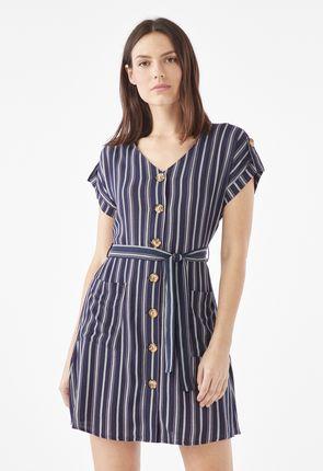 dc5e4692c15 Button Front Shirt Dress ...