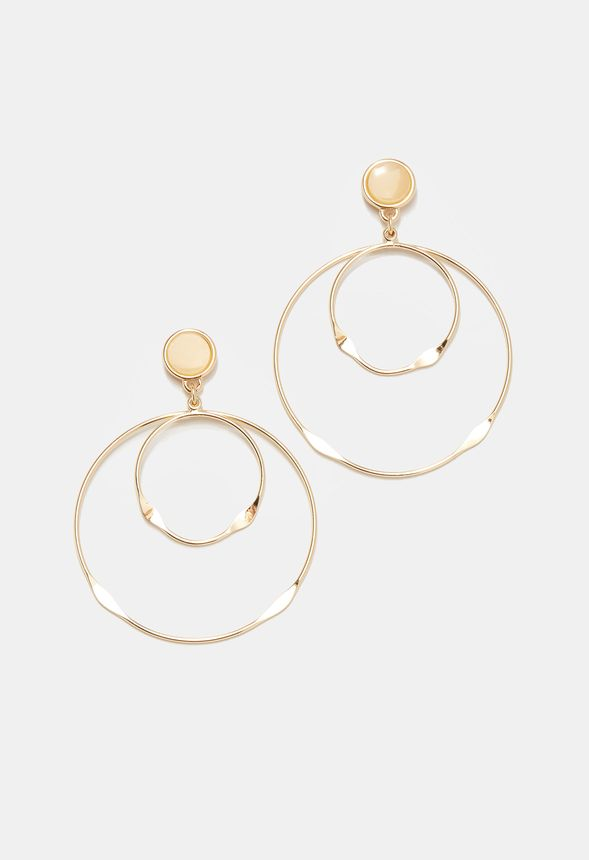 2ac471988817 Bisutería Major Loop Earrings en Dorado - Envío gratuito en JustFab