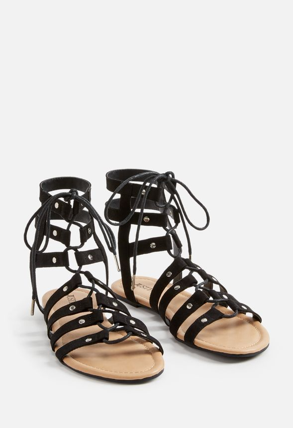 c2c4c79e747f8 Myra Flat Sandal Shoes in Black - Get great deals at JustFab