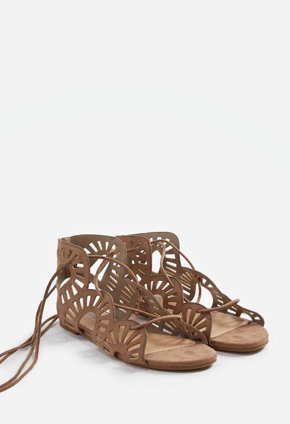 Chaussures Sandales plates Jenn en Taupe Livraison