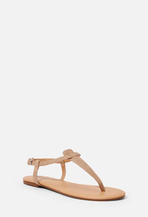 Chaussures Sandales plates Pia en Taupe Livraison gratuite
