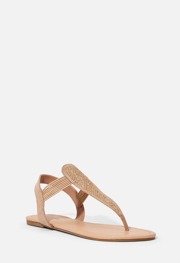 Chaussures Sandales plates Adara en Taupe Livraison
