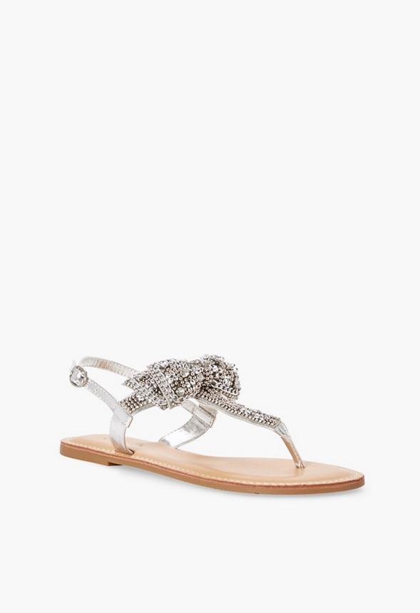 plus récent b0259 674f5 Chaussures Sandales plates Terena en Argenté - Livraison ...