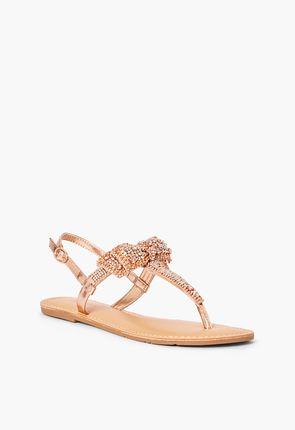 21a65096e Terena Embellished Bow Flat Sandal ...