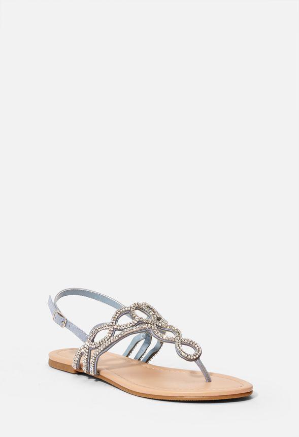 site réputé 516f6 a6bb0 Chaussures Sandales plates ornementées Ellentine en Bleu ...