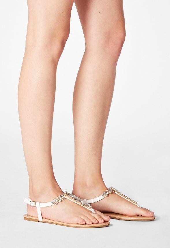 Chaussures Sandales plates ornementées Margarete en