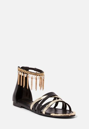 c0ac3ba779fc Flade sandaler. Belinda Fringe Flat Sandal ...