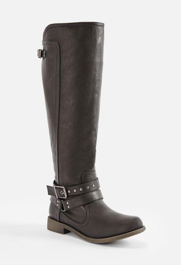 Mina Stiefel mit Nietenbesatz Schuhe in Schwarz günstig