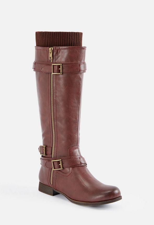 824ec4811b Zapatos Botas altas Kadijah en Burdeos - Envío gratuito en JustFab