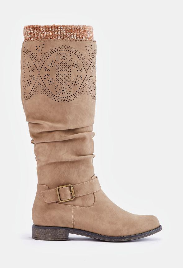 Ester En Envío Flat Gratuito Justfab Camel Zapatos Boot 34Lj5AR