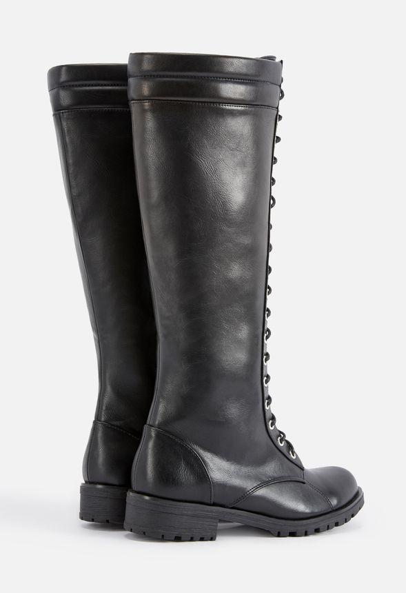 Skor Carter Höga boots med snörning i Svart Fantastiska