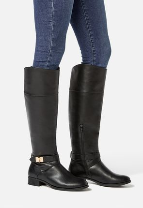 74440321e67 Aksana Faux Leather Riding Boot Aksana Faux Leather Riding Boot