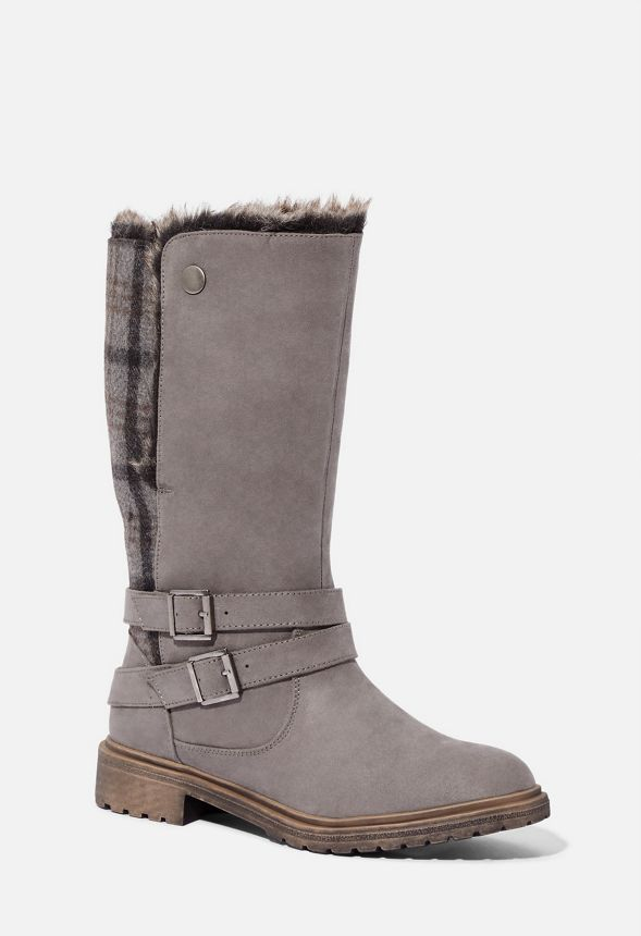 WINTER BOOTS WOMENS MANDY BROWN FUR UK SIZES 3-8 FAUX SUEDE BOOTS