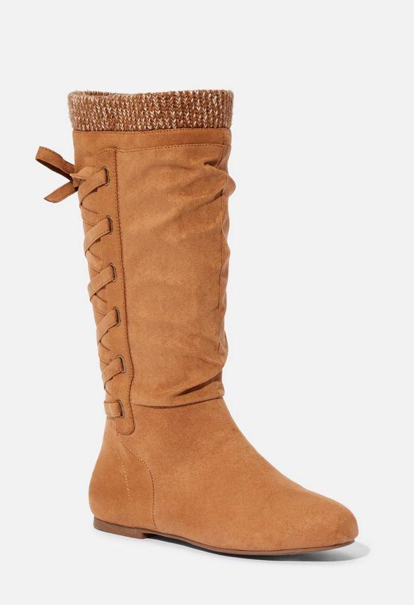 Zapatos Botas Planas Gabby En Camel Envio Gratuito En Justfab