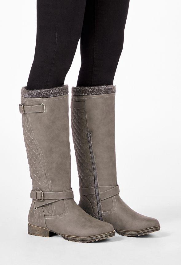 Chaussures Bottes cavalières Mahira en Charbon Livraison