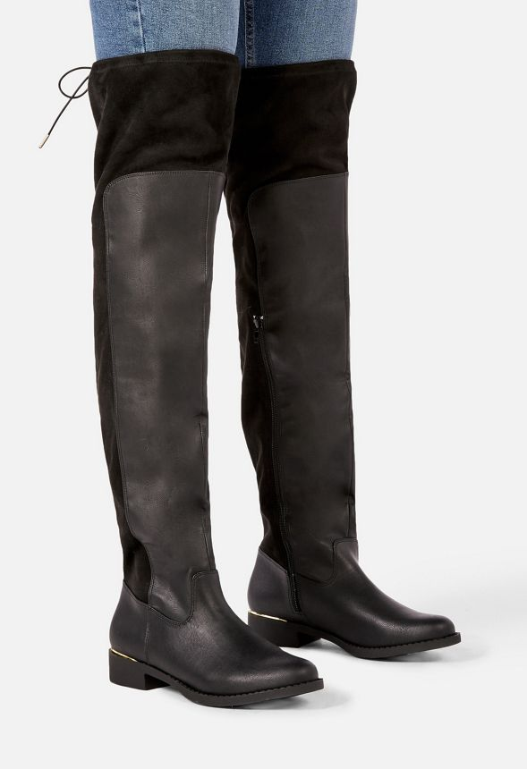 Chaussures Cuissardes Ria en Noir Livraison gratuite sur