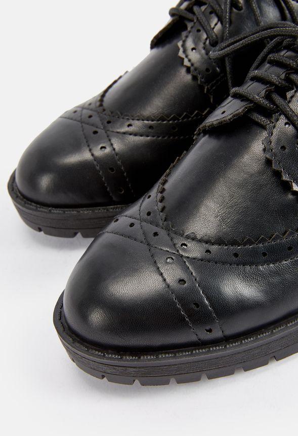 ac1ba02b2 Chaussures Richelieu Perllea en Noir - Livraison gratuite sur JustFab