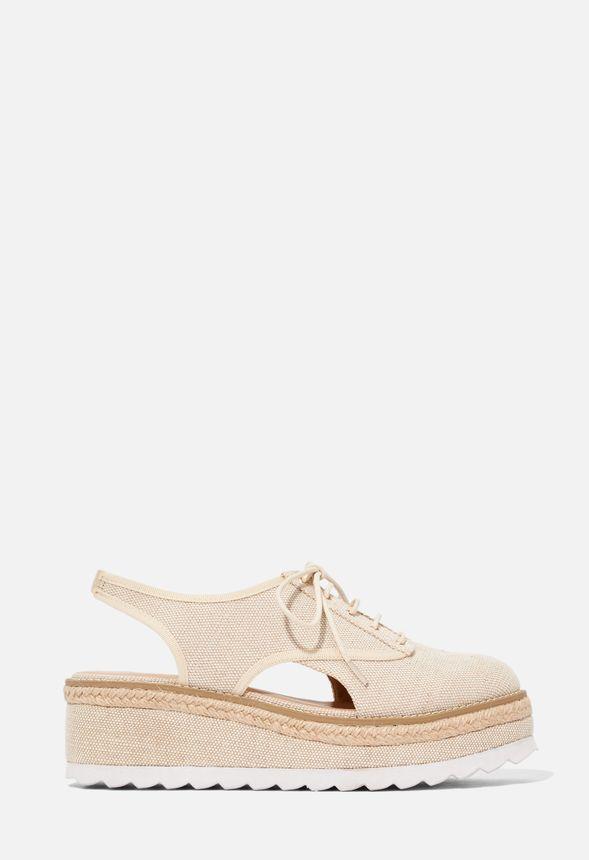 Arden Flatform Espadrille Schuhe in LINEN günstig online