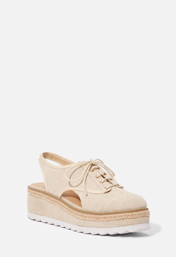5f4d21f2a Chaussures Espadrilles compensées Arden en LINEN - Livraison ...