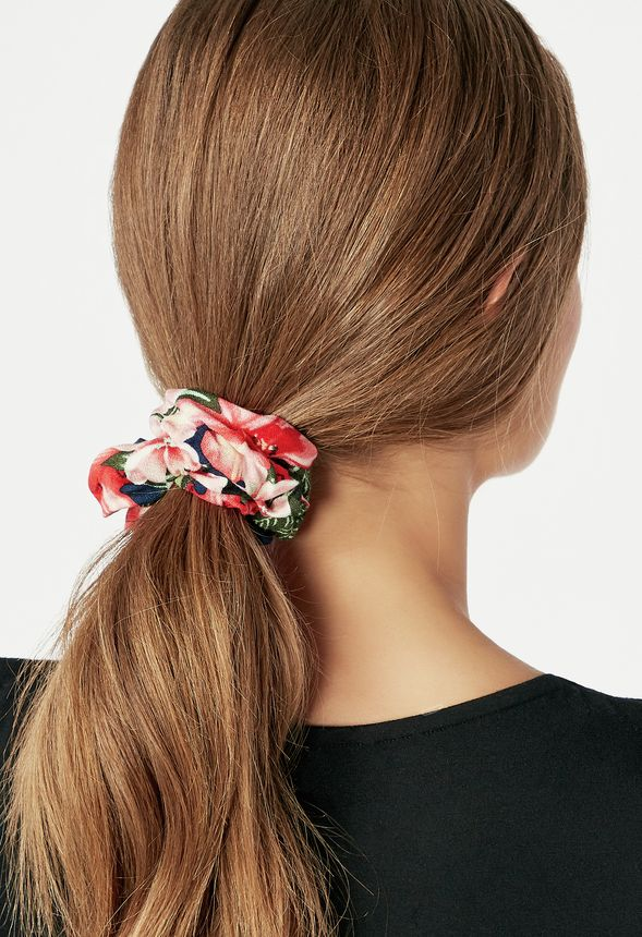 Pull It Back Hair Tie Accessories In Blue Floral Get Great Deals