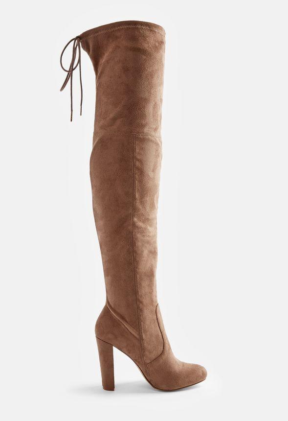 Philipa Overknee Stiefel Schuhe in Taupe günstig online
