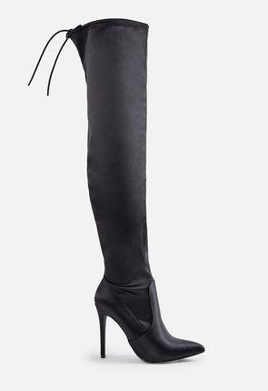 6a8901037fd Black Knee High Boots
