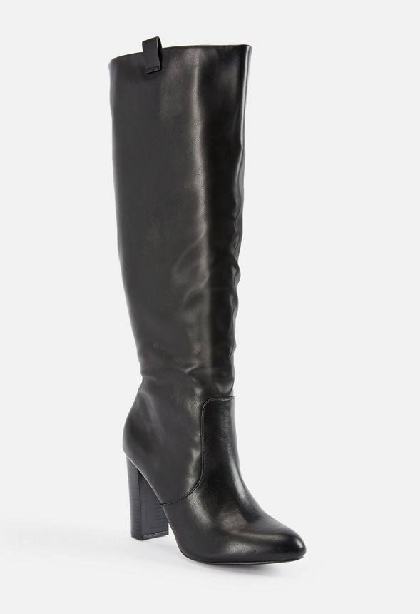 10d92244ff6 Matina Heeled Boot Shoes in Black - Get great deals at JustFab