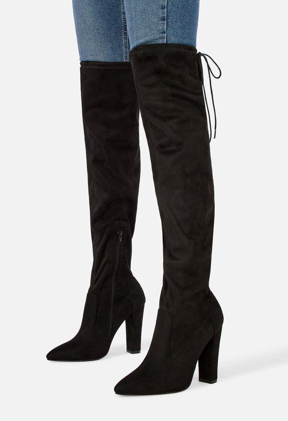 Cara elastische Overknees Schuhe in Schwarz günstig online
