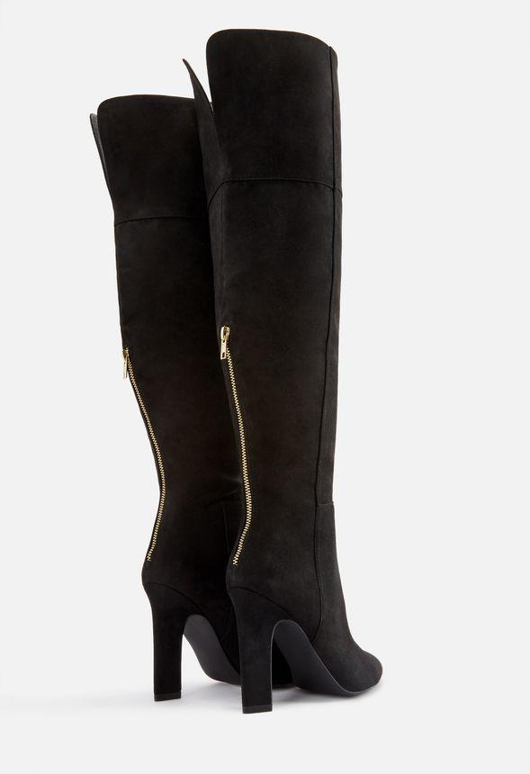 Skor Becky Boots med klack i Svart Fantastiska erbjudanden
