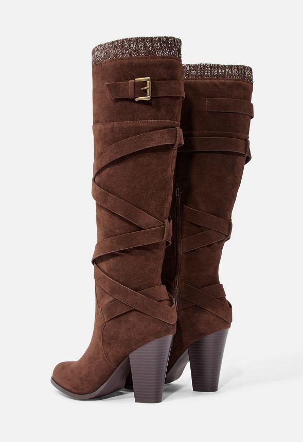 Skor Aleema Boots med klack i Brun Fantastiska erbjudanden