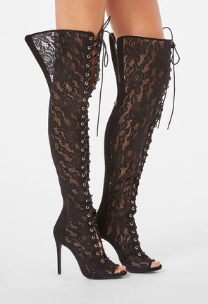 6e9ad65a34cf ... Freya Over-The-Knee Sheer Lace Boot