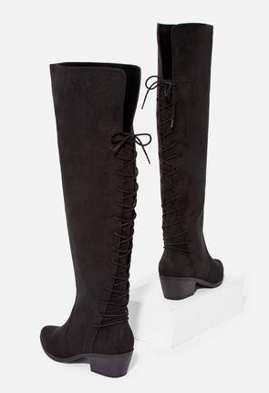 Abbie Overknee Stiefel aus Stretch Material Schuhe in