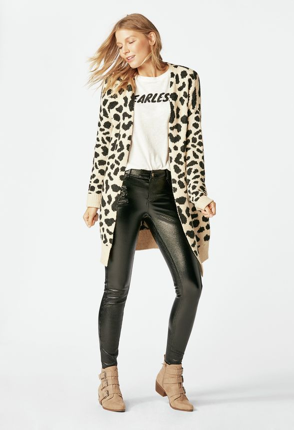 221cc3813547 Leopad Print Cardigan Clothing in Leopard - Get great deals at JustFab